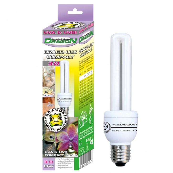 Drago Lux Compact UV Terrarienlampe Kompaktlampe Terrarium UV Energiesparlampe UVA 3.0 6.0 12.0 in versch. Größen