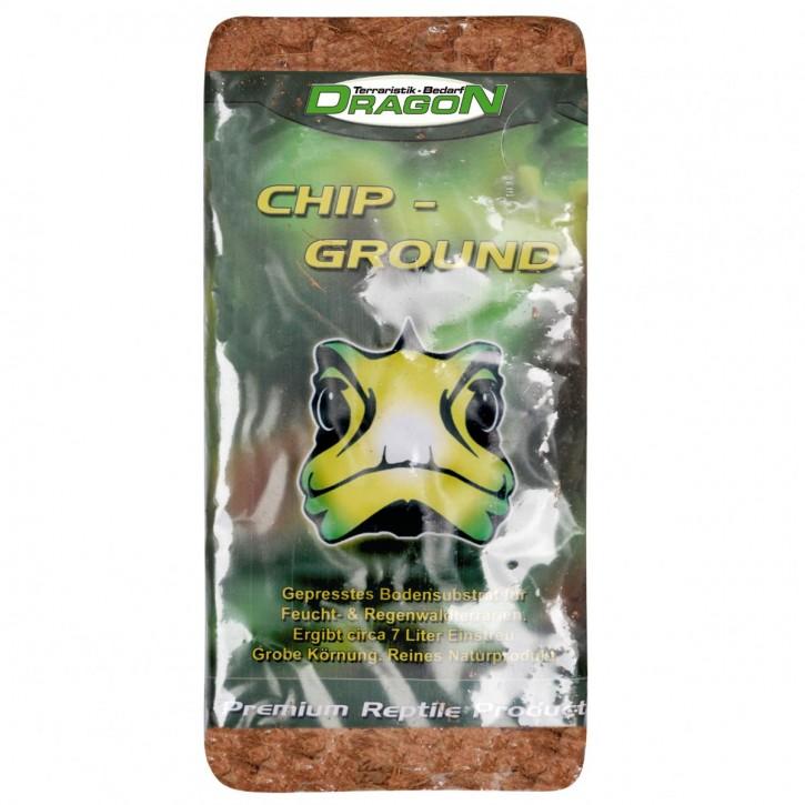 1 x 7 L Dragon CHIP-GROUND Kokoseinstreu, Humusziegel, Körnung grob