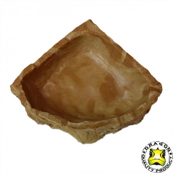 Dragon Eck Wasser Futterschalen Wassernapf Futternapf Sandstein 500 ml, 16,5 x 16,5 x 4 cm