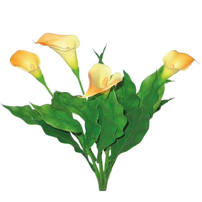 Terrarium Kunstpflanze Calla gelb 35 cm