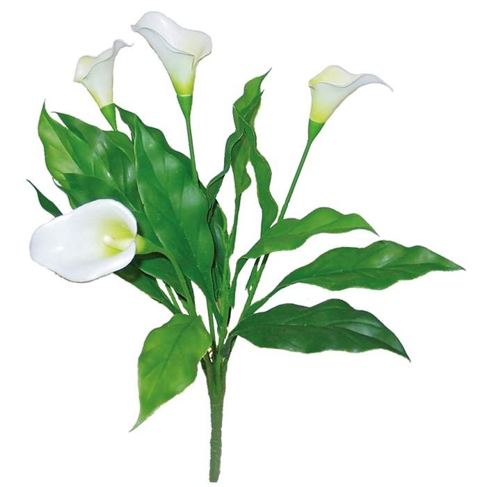 Terrarium Kunstpflanze Calla weiß 35 cm