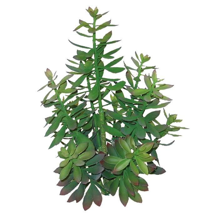 Terrarium Kunstpflanze Echeveria-Busch ca. 45 cm