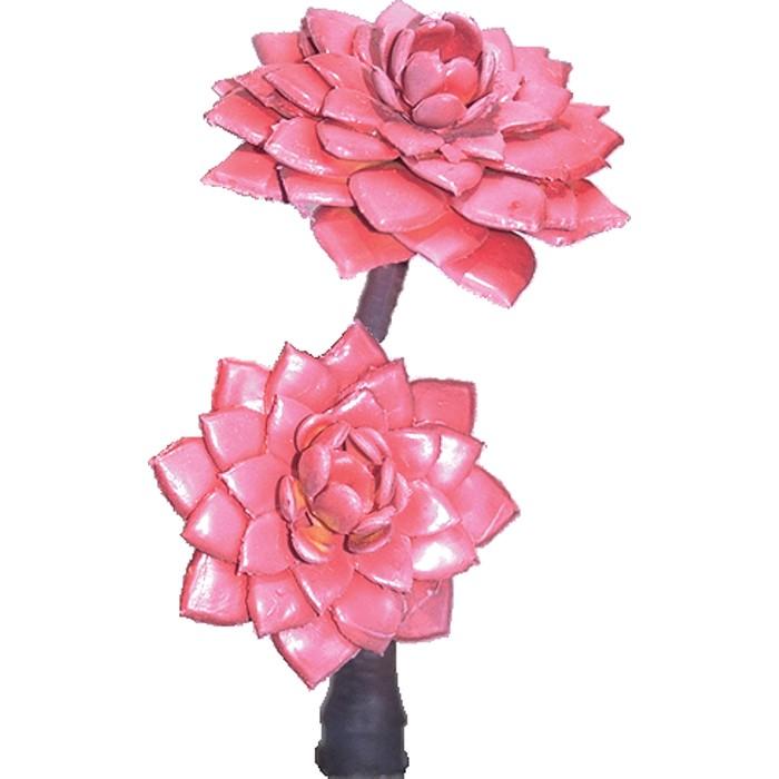 Terrarium Kunstpflanze Echeveria Rot Sukkulente 17 cm