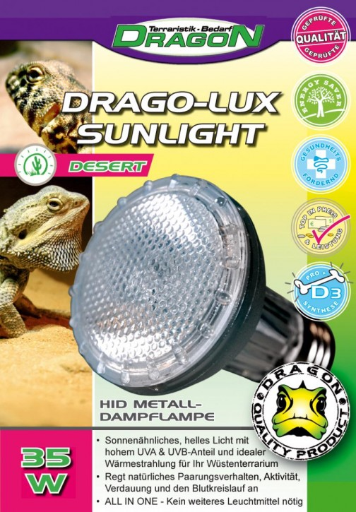 Dragon Metalldampflampe UV HID Terrarienlampe in 6 verch. Ausführungen