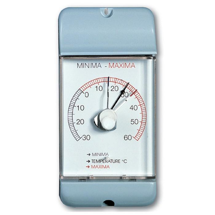 Min/Max-Thermometer bimetall weißgrau