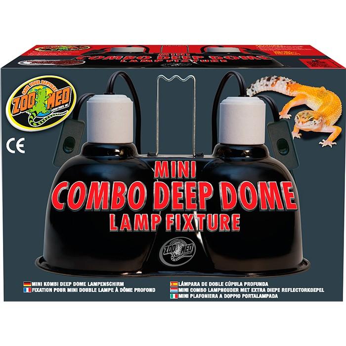Zoo Med Mini Combi Deep Dome Clamp Lamp Alu Reflektor Klemmlampe für Terrarium