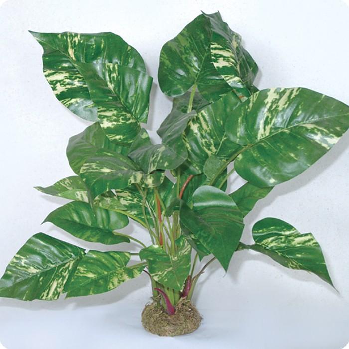 Terrarium Kunstpflanze Pothos mit Moosfuß ca. 45 cm