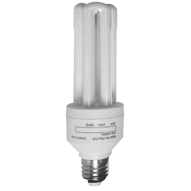 Rept Sun Plus 5.0 Terrarienlampe 13 und 26 Watt E27 Energiesparlampe