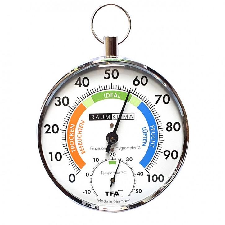 TFA Analoges Thermo - Hygrometer mit Metallring zum Hängen