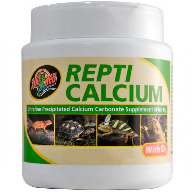 ZooMed Repti Calcium mit Vitamin D3 Phosphorfreies Kalzium für Reptilien und Amphibien