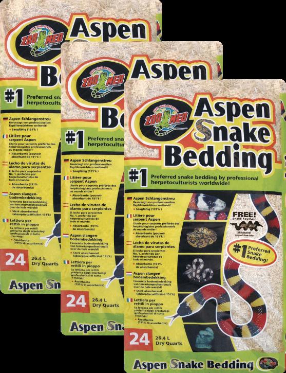 Zoo Med Aspen Snake Bedding (3 x 26,4 L) 79,2 L