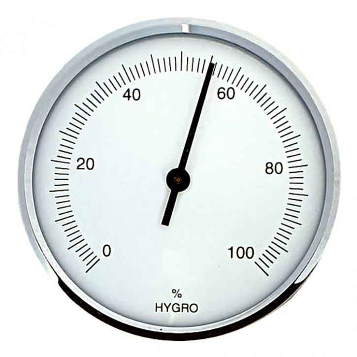 Dragon Hygrometer, analog weiß, rund Ø 70mm mit Silberrin