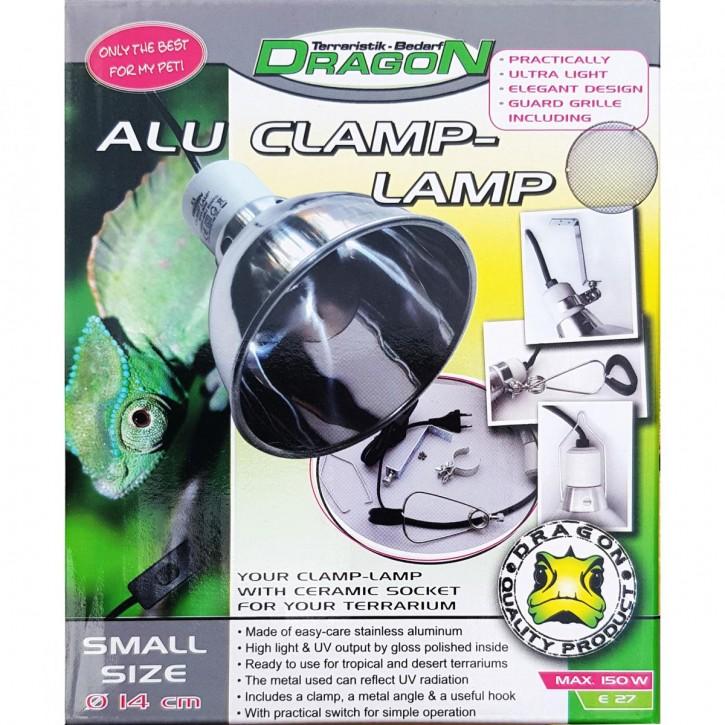 Dragon Alu Reflektor Klemmlampe Clamp Lamp für Terrarium bis 300 Watt in 3 versch. Größen