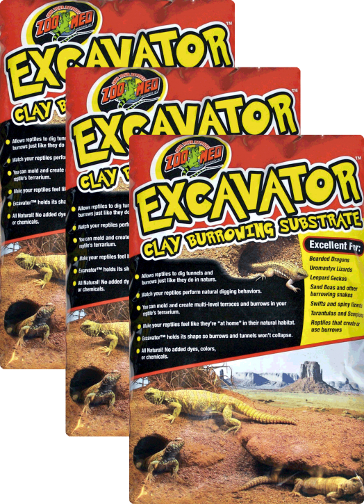 Zoo Med Excavator 3 x 4,5 kg (13,5 k.g), Grabfähiges Ton Substrat