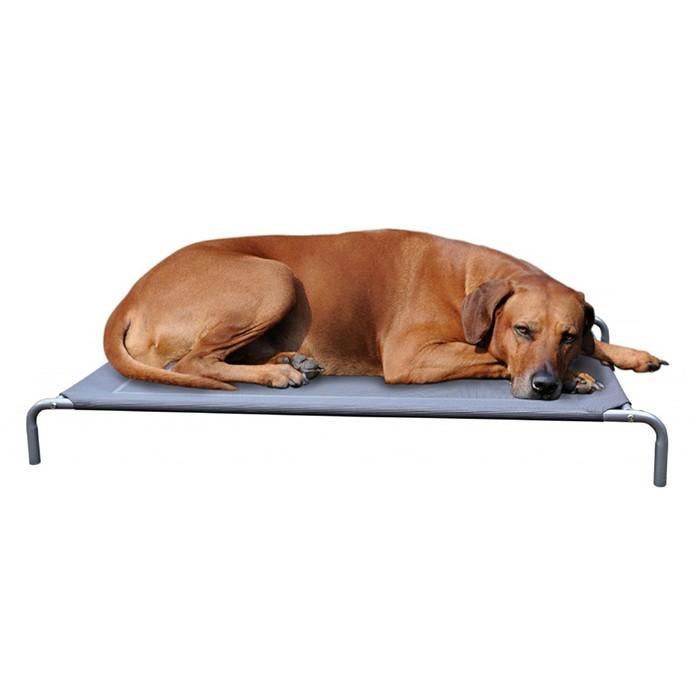 CANIS VERDE Hundebett Hundefeldbett in 3 versc. Größen Farbe: Grau
